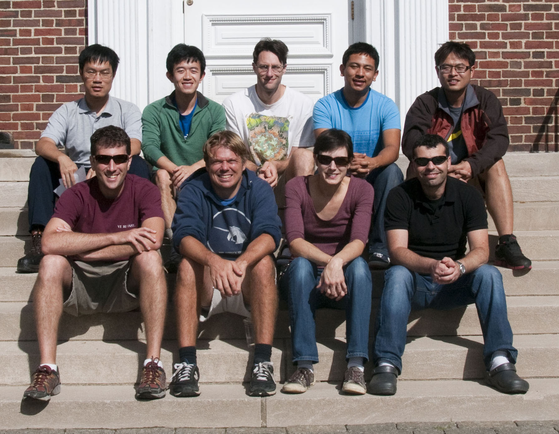 Left to right, top to bottom: Bo, Jue, Mike, Renan, Jacky, Ilan, Greg, Sarah, and Yoni.